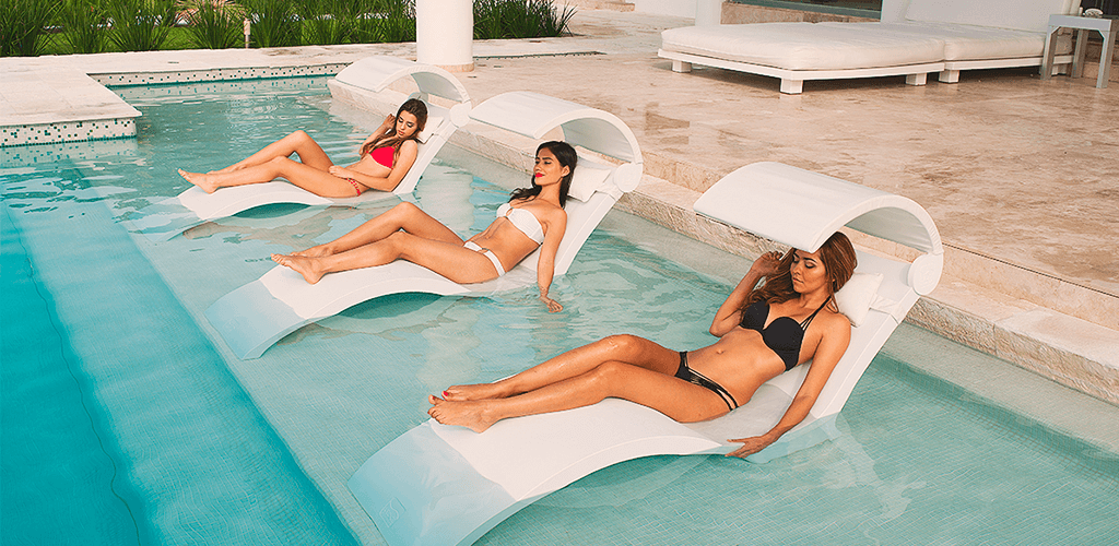 Pool loungers. In-Pool furniture collection by GodoPools
