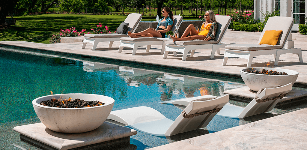 In-water loungers. In-Pool furniture collection by GodoPools