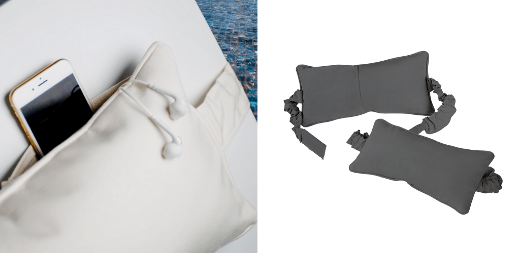 Headrest pillows for pool loungers. In-Pool furniture collection by GodoPools