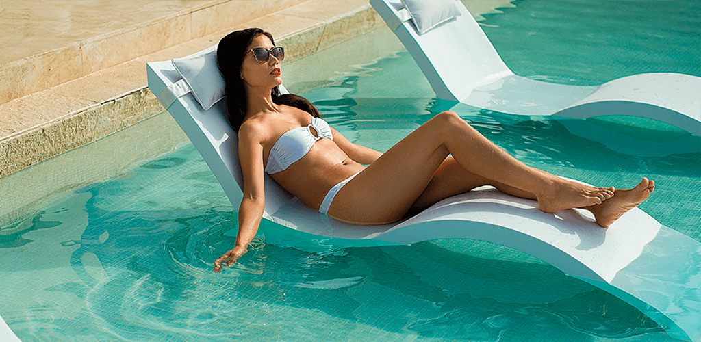 Deluxe loungers. In-Pool furniture collection by GodoPools