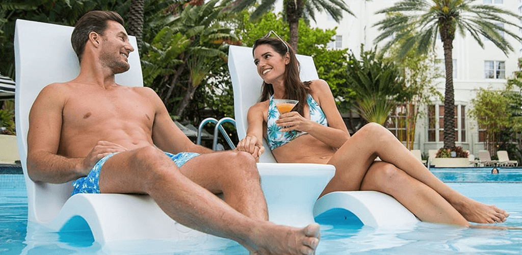 In-water seats. In-Pool furniture collection by GodoPools