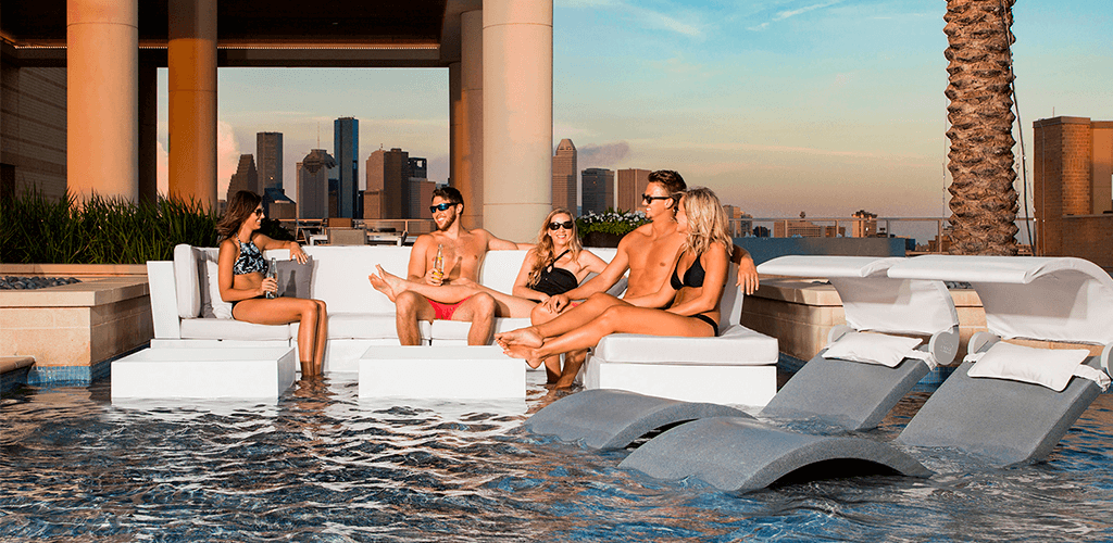 Sun loungers. In-Pool furniture collection by GodoPools