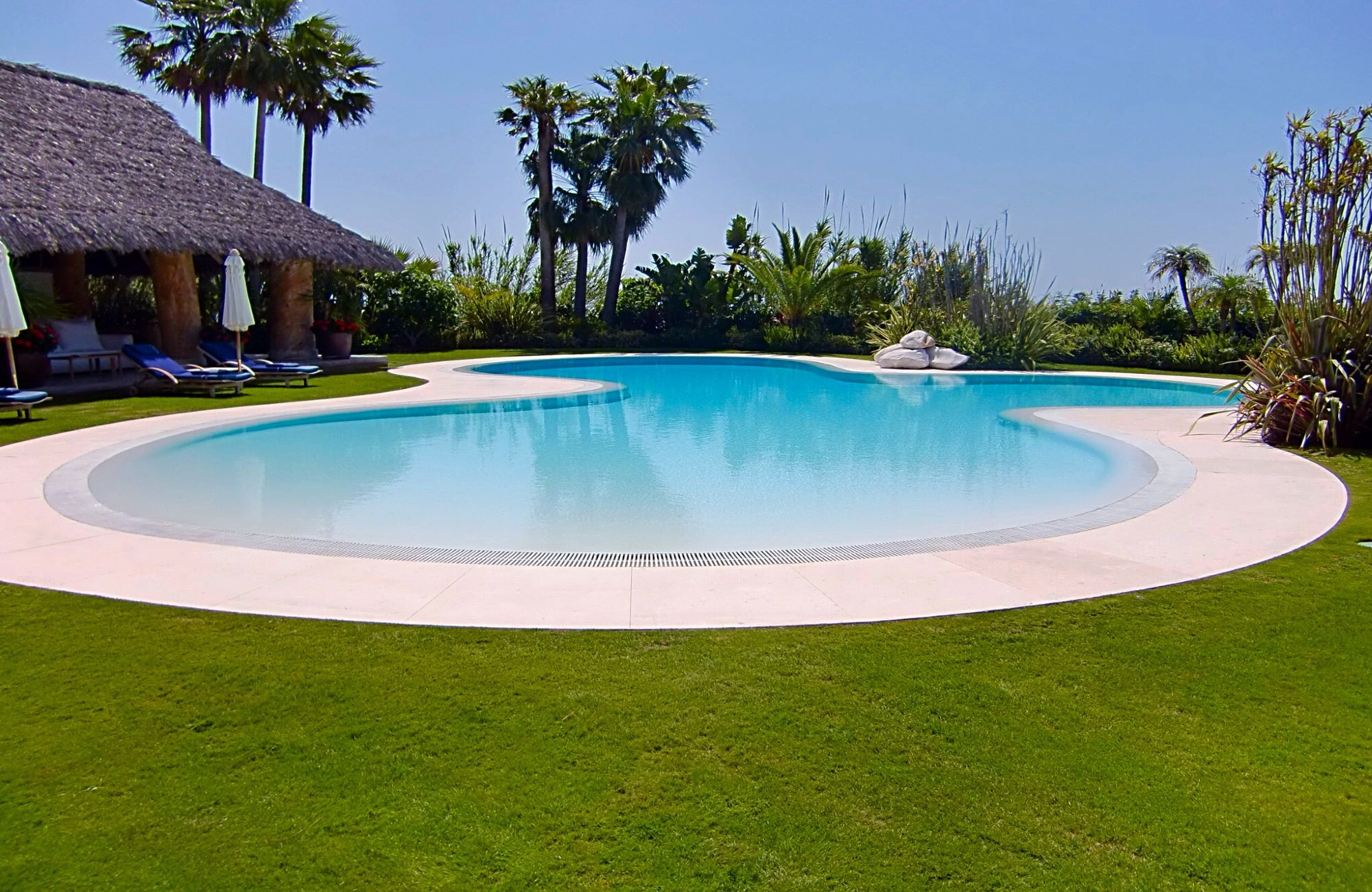 Sand swimming pools, create your own beach